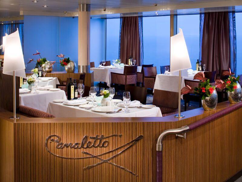 Restaurant CANALETTO du bateau de croisière Ms Zaandam