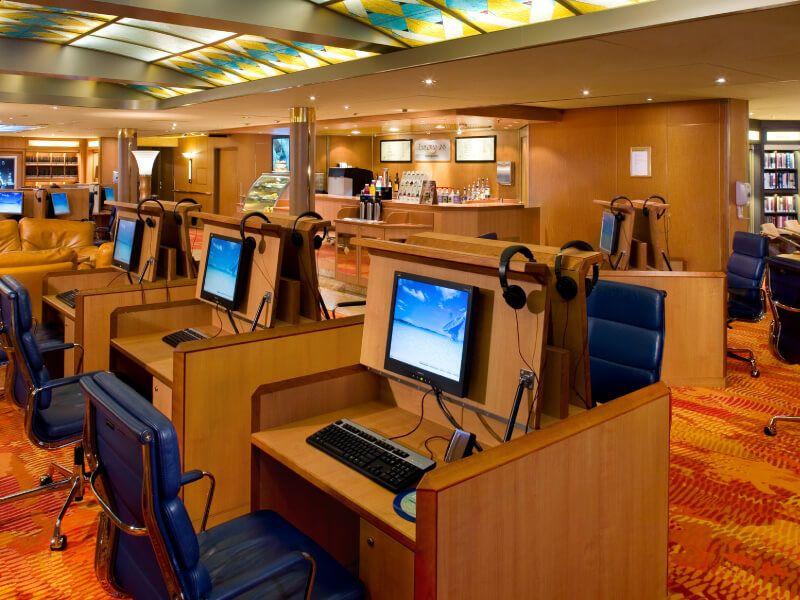Zone internet du bateau de croisière MS Zuiderdam