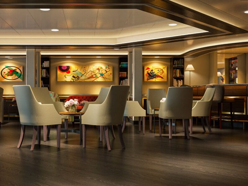 Art Café du bateau de croisière Silver Muse