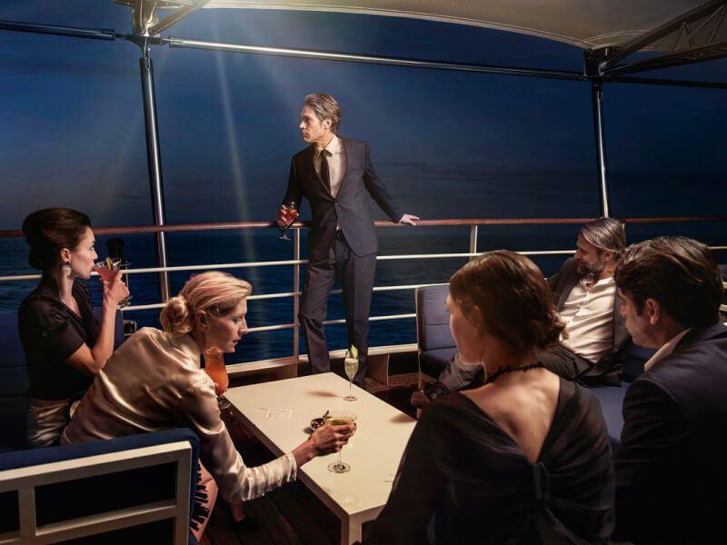 Panorama lounge du bateau de croisière Silver Muse
