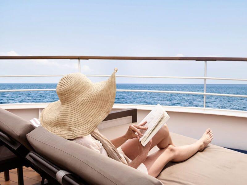 Pont soleil du bateau de croisière Silver Muse