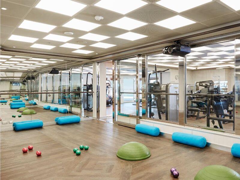 Salle de gym du bateau de croisière Silver Muse