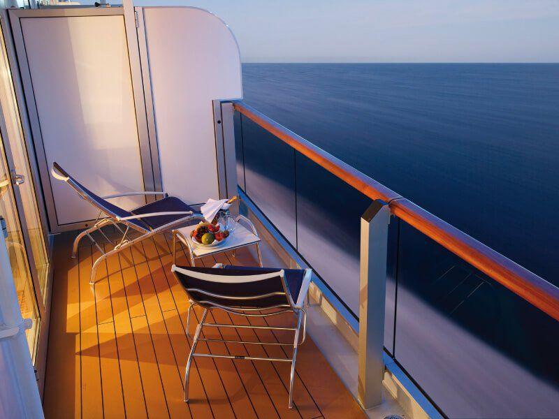 Vue Balcon du bateau de croisière Costa Deliziosa