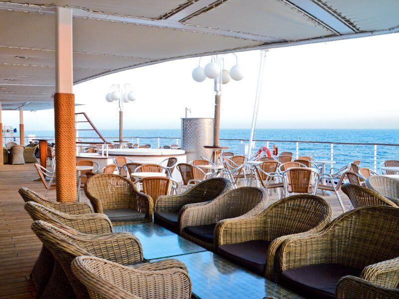 Bar Thalassa du bateau de croisière Celestyal Crystal