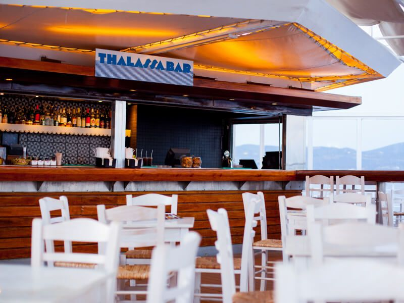 Bar Thalassa du bateau de croisière Celestyal Olympia