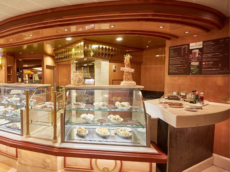 Café International du bateau de croisière Majestic Princess