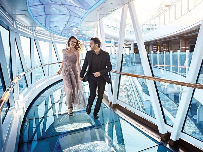 Seawalk du bateau de croisière Majestic Princess