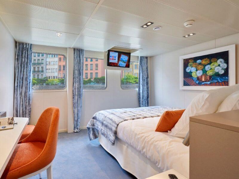 Cabine double deux lits du bateau MS Van Gogh