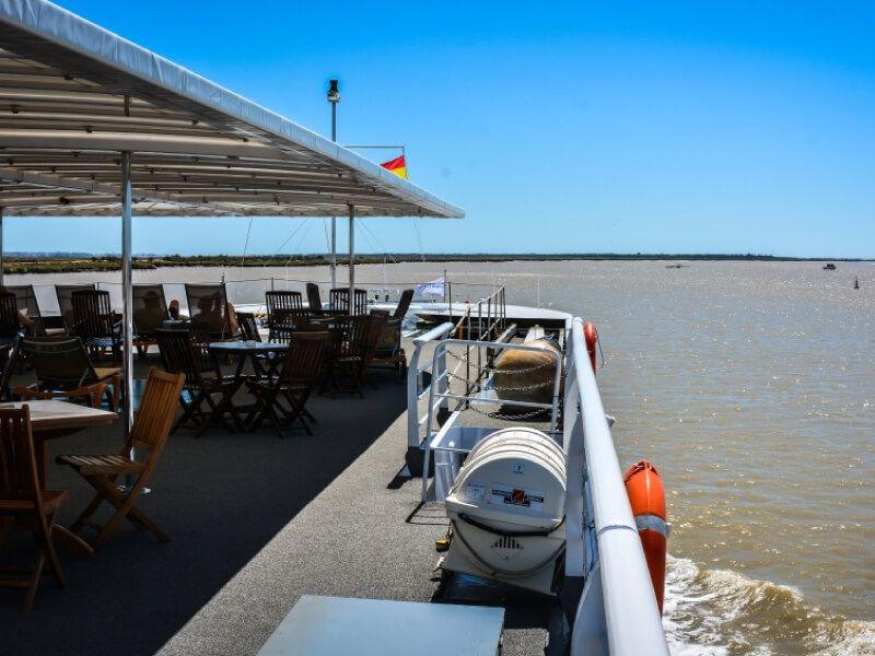 Pont soleil du bateau MS La Belle de Cadix