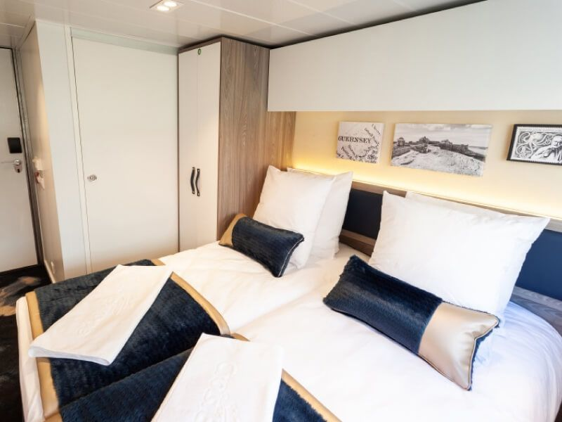 Cabine double du bateau MS Victor Hugo