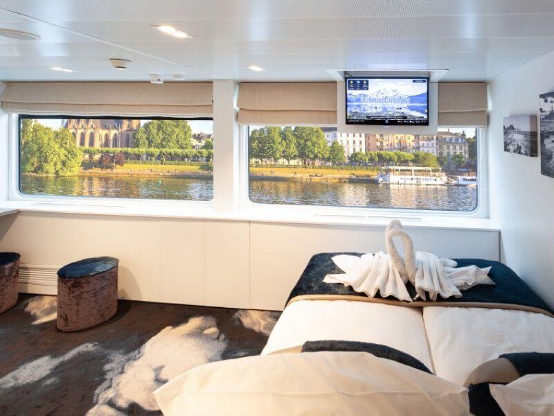 Cabine pont supérieure du bateau MS Victor Hugo