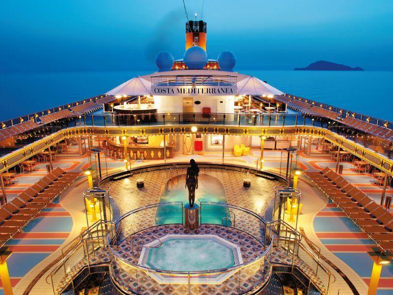 Jacuzzi du bateau de croisière Costa Mediterranea