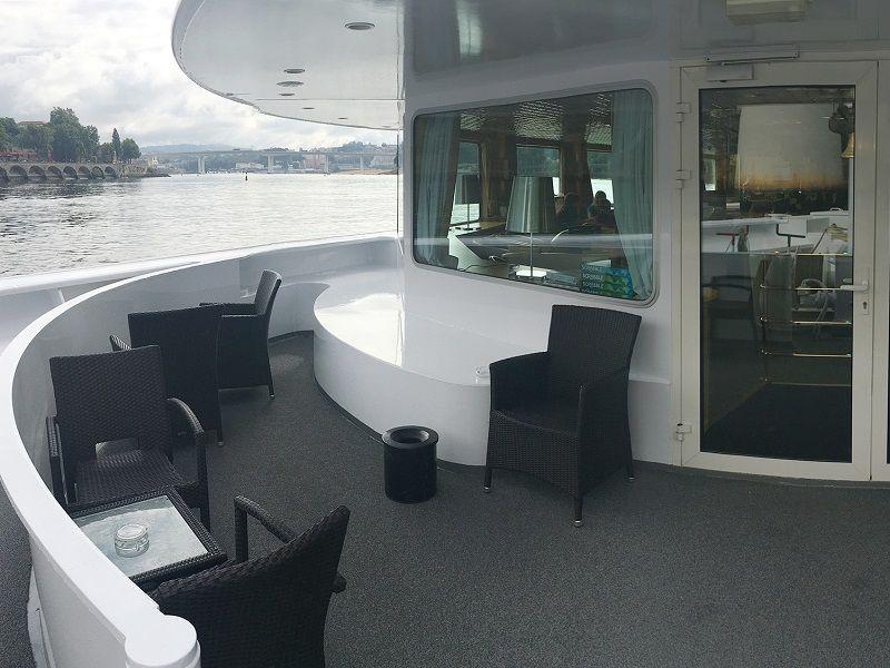 Terrasse à bord du Ms Fernao de Magalahes