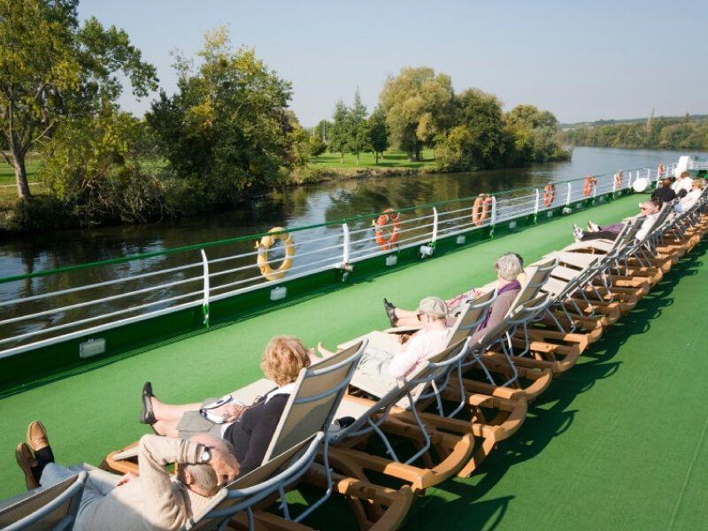 Pont soleil du bateau MS Infante don Henrique