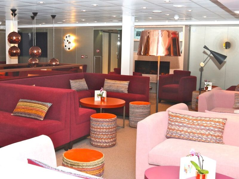 Salon bar du bateau MS Loire Princesse