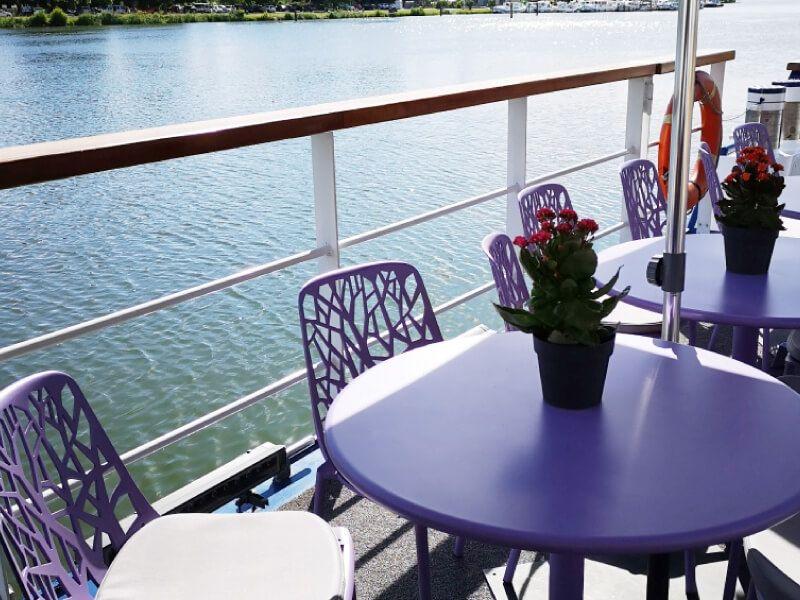 Terrasse du bateau Raymonde