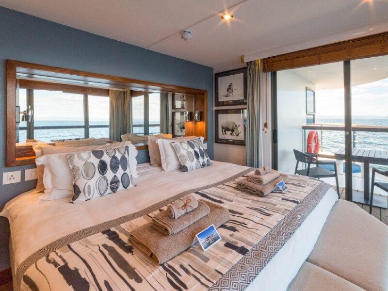 Cabine terrasse du bateau RV African Dream