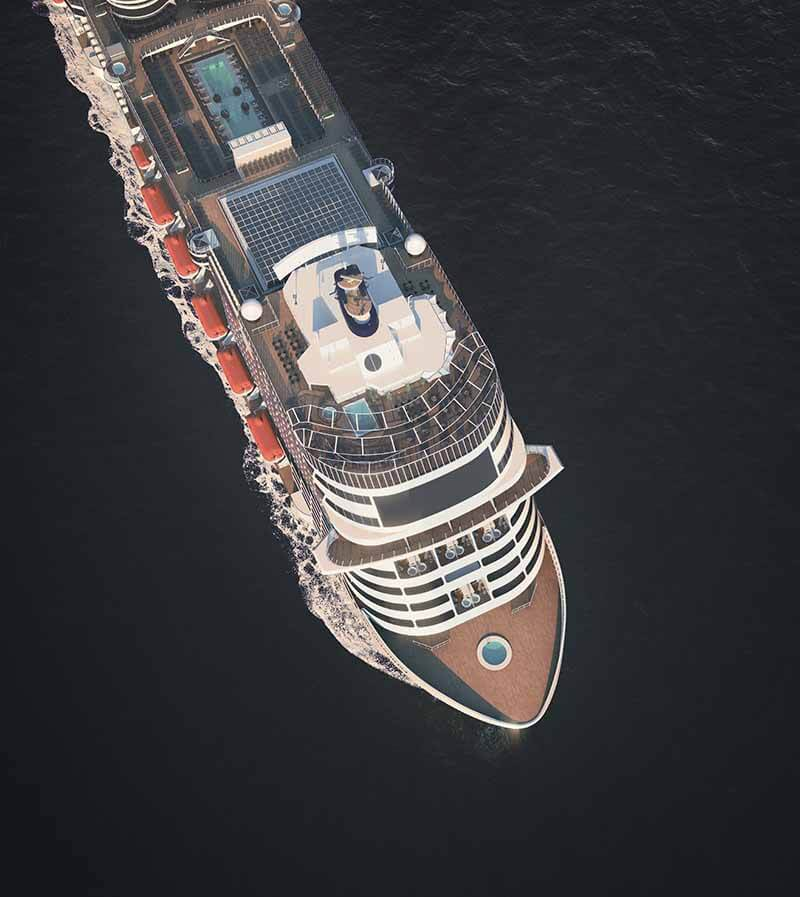 Vue de dessus du MSC Grandiosa