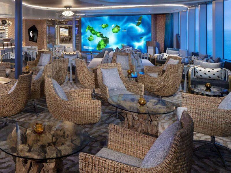 Salon découverte du bateau de croisière Celebrity Flora