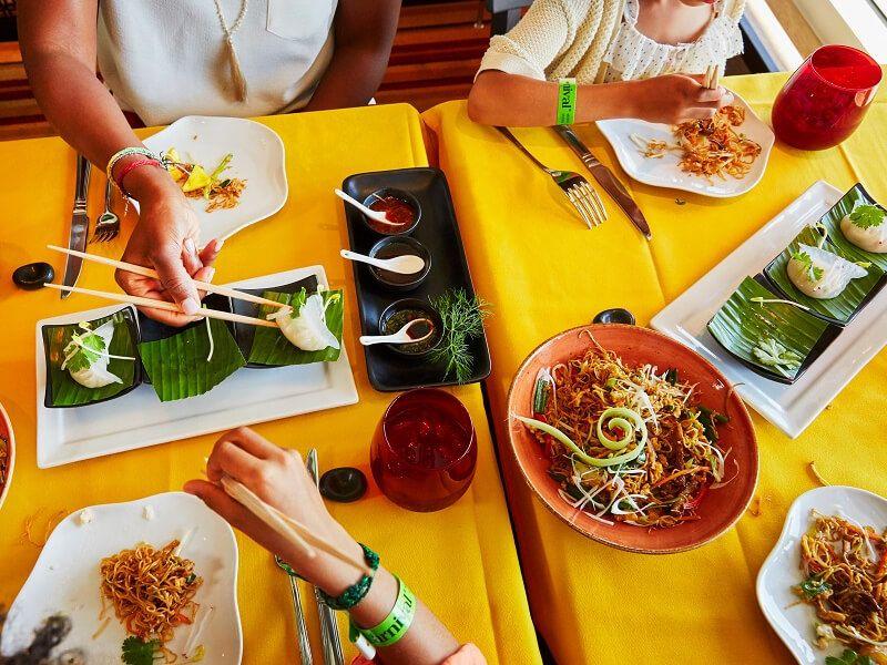 Jiji cuisine Asiatique du bateau de croisière Carnival Panorama