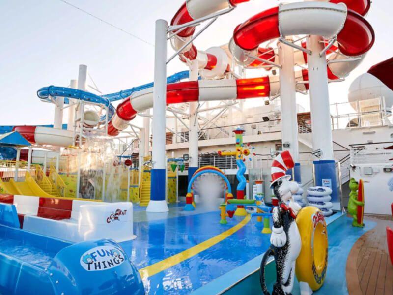 Waterworks du bateau de croisière Carnival Breeze