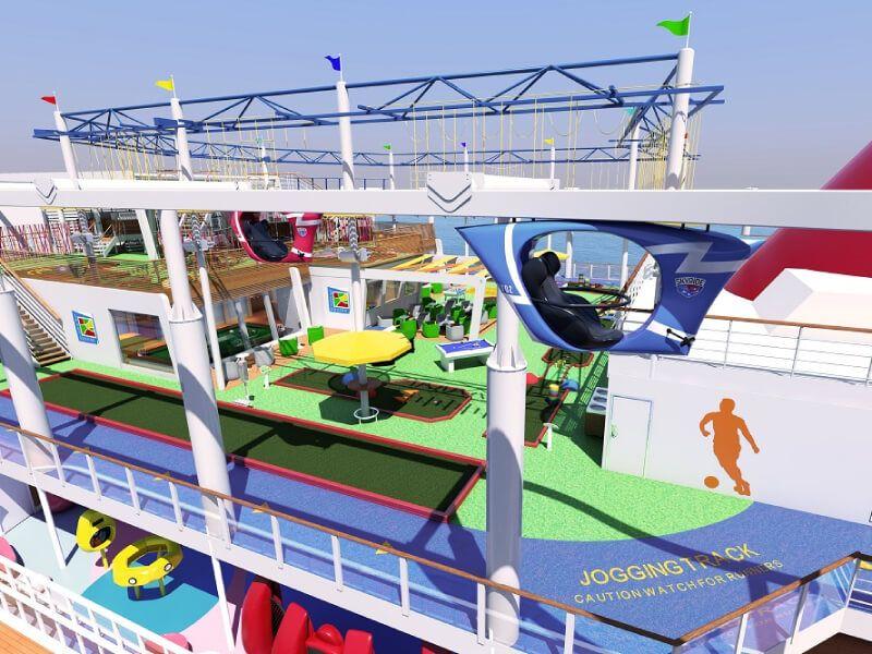 Sport square du bateau de croisière Carnival Paradise