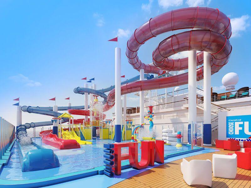 Waterworks du bateau de croisière Carnival Paradise