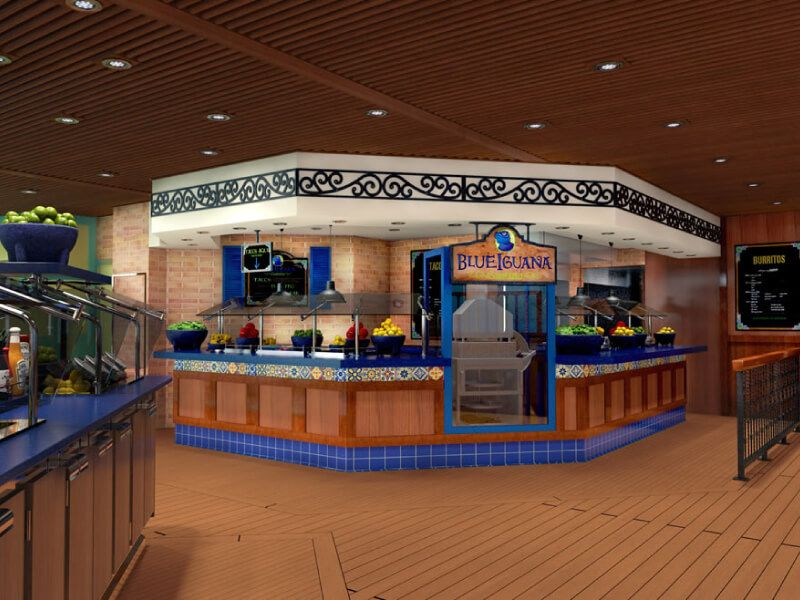 Blueiguana cantina du bateau de croisière Carnival Elation