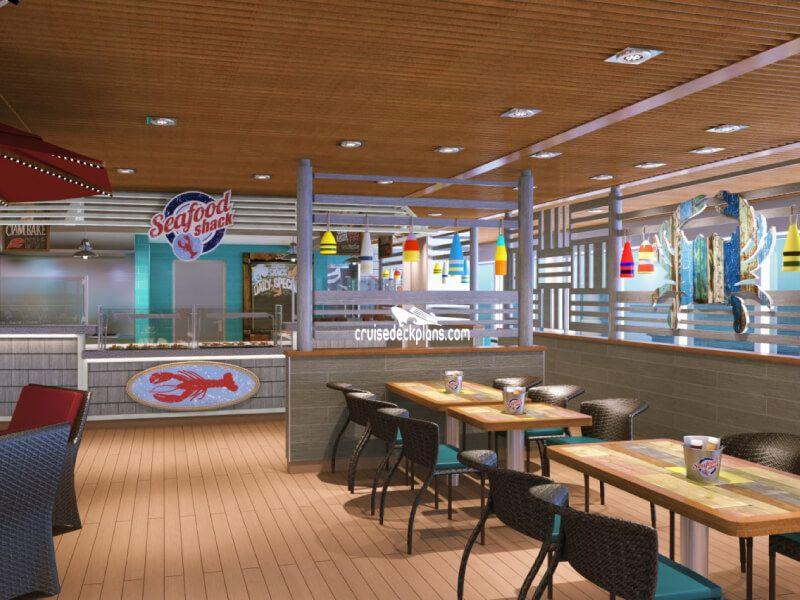 Seafood Shack du bateau de croisière Carnival Dream