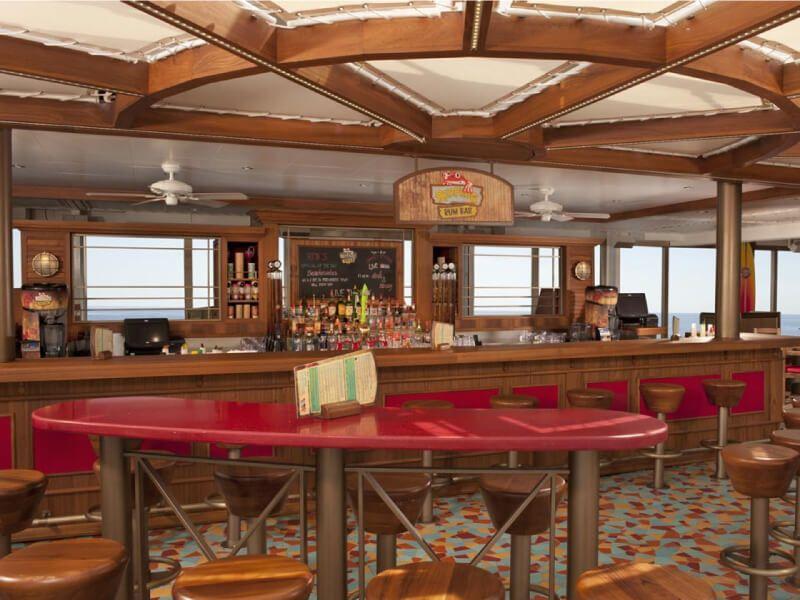 Red Frog Rum Bar du bateau de croisière Carnival Glory
