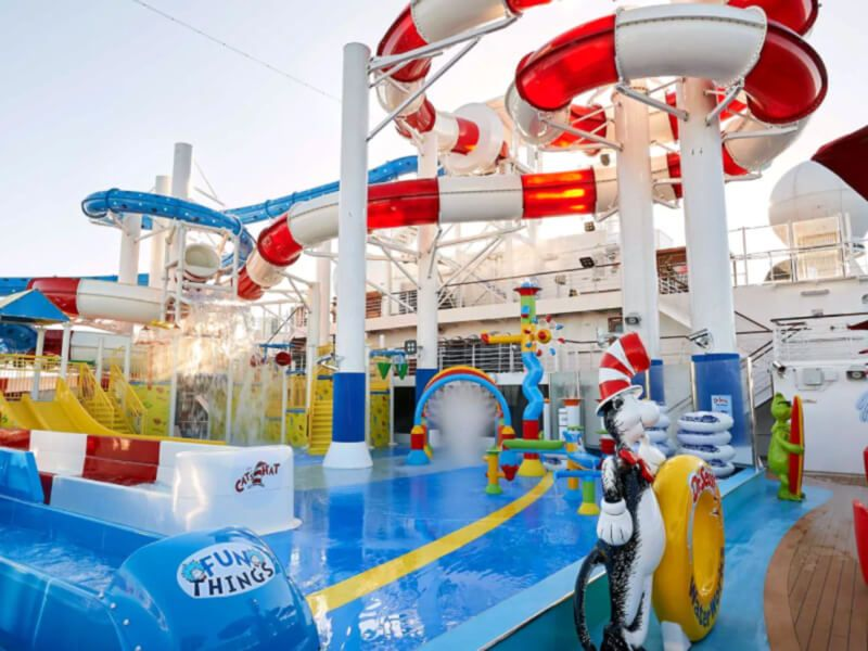 Waterworks du bateau de croisière Carnival Glory