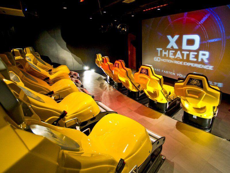 Salle de cinéma 4D du bateau de croisière MSC Preziosa