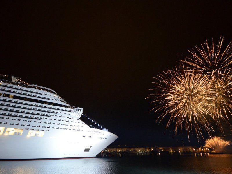 Inauguration du bateau de croisière MSC Preziosa