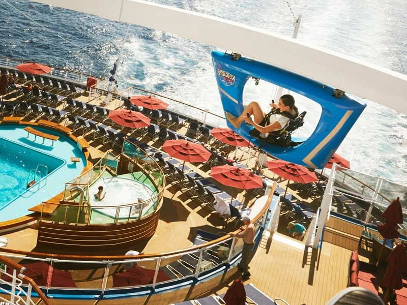 SkyRide du bateau de croisière Carnival Conquest