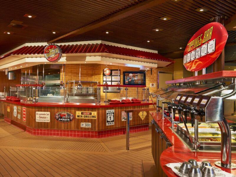 Guy's Burger du bateau de croisière Carnival Ecstasy