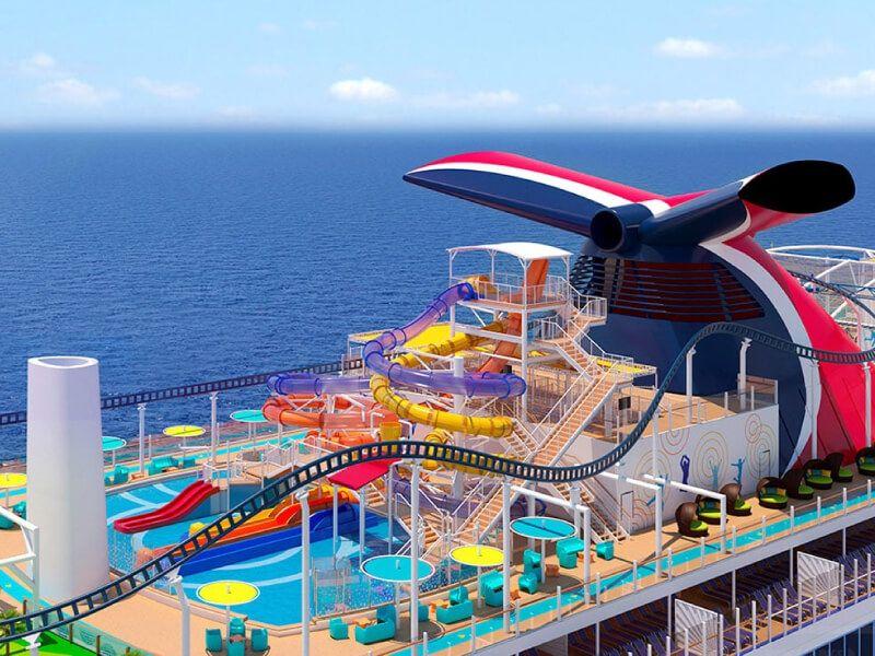 Waterworks du bateau de croisière Carnival Miracle