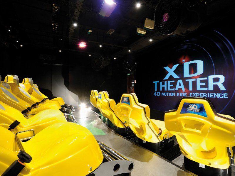 Salle de cinéma 4D du bateau de croisière MSC Splendida
