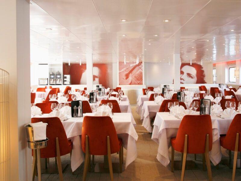 Restaurant du bateau MS Amalia Rodrigues