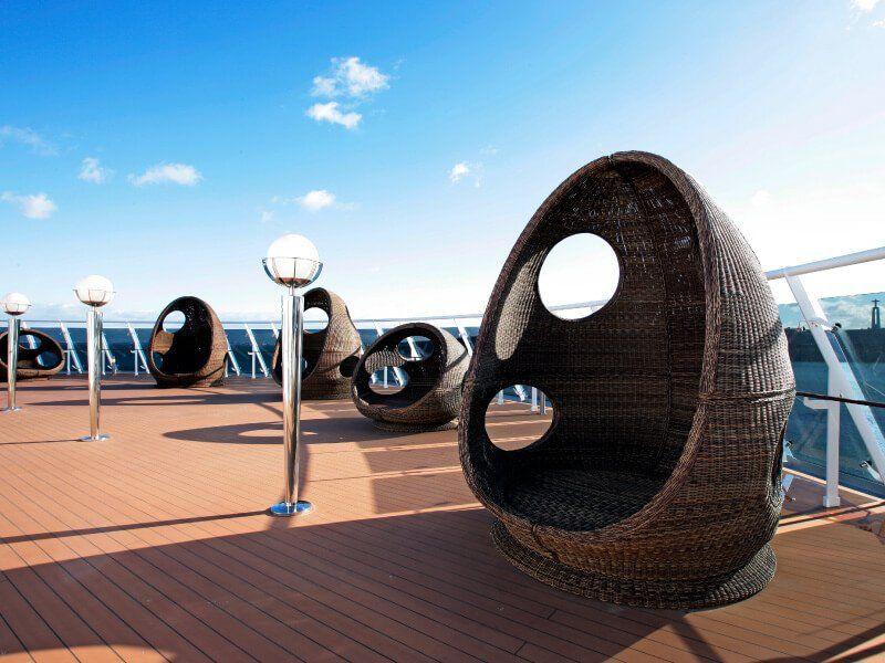 Un solarium est mis à votre disposition à bord du bateau de croisière MSC Fantasia