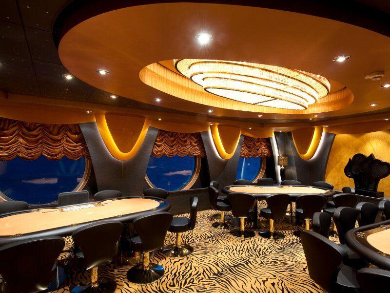Salle de Poker du bateau de croisière MSC Magnifica