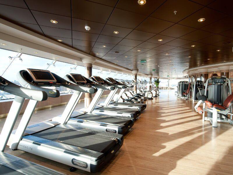 Salle de sport du bateau de croisière MSC Magnifica