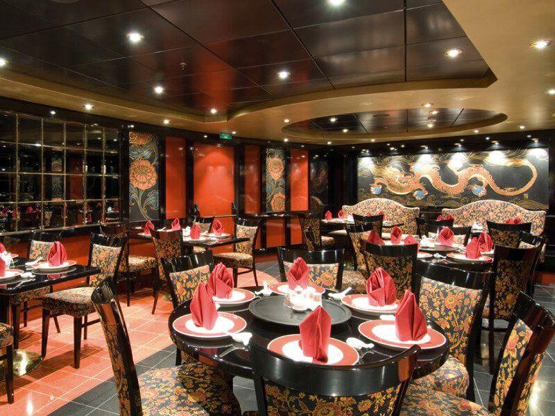 Restaurant asiatique du bateau de croisière MSC Orchestra