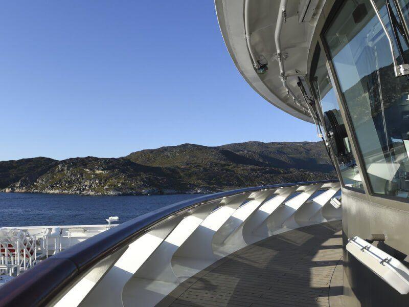 Pont extérieur du bateau de croisière Le Soléal