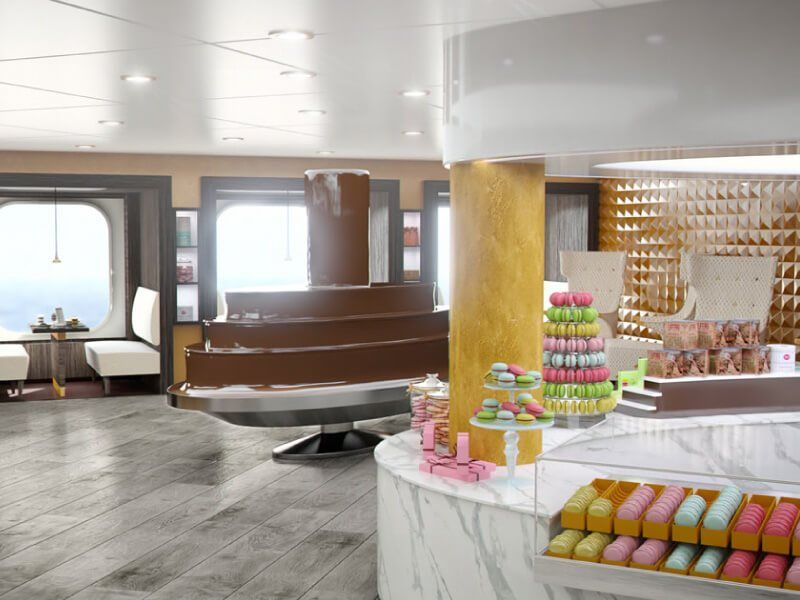 Chocolaterie du bateau de croisière MSC Meraviglia