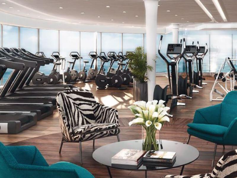 Salle de fitness du bateau de croisière MSC Meraviglia