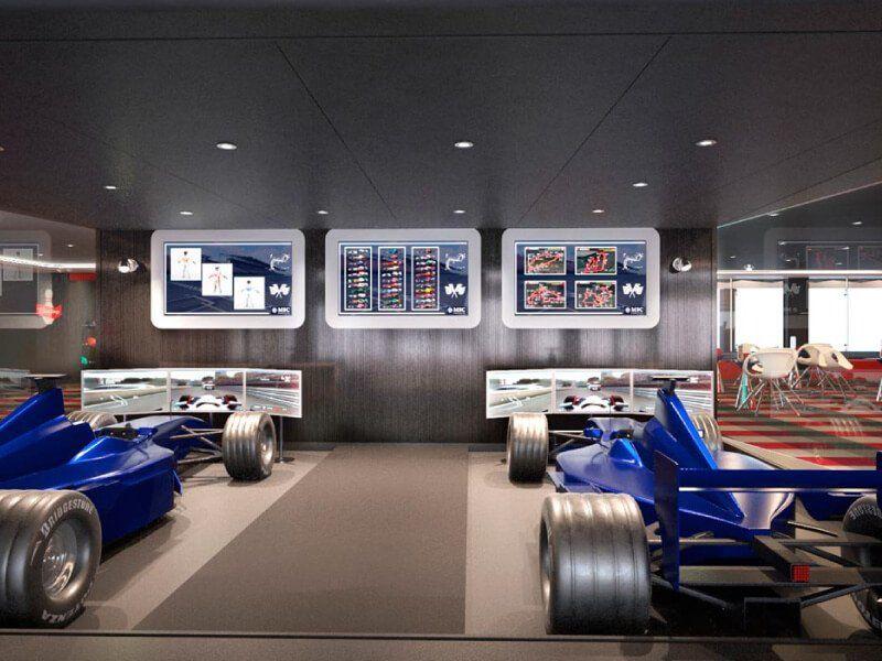 Simulateur Formule 1 à bord du bateau de croisière MSC Meraviglia