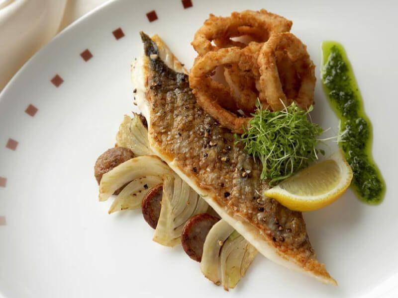 Plat à déguster dans les restaurants du bateau de croisière Celebrity Solstice