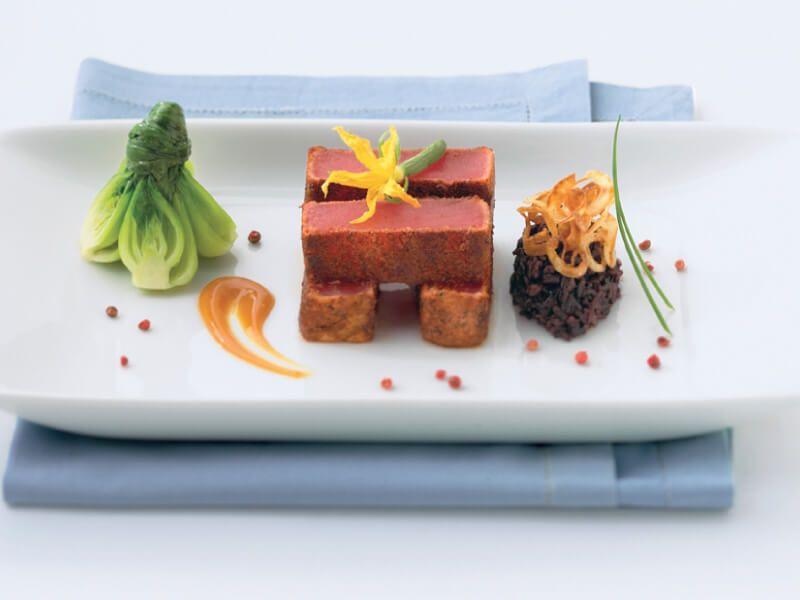 un des plats à déguster au restaurant du bateau de croisière Celebrity Infinity
