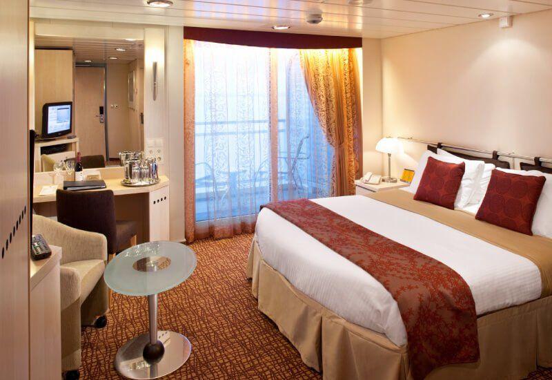 Cabine balcon du bateau de croisière Celebrity Constellation