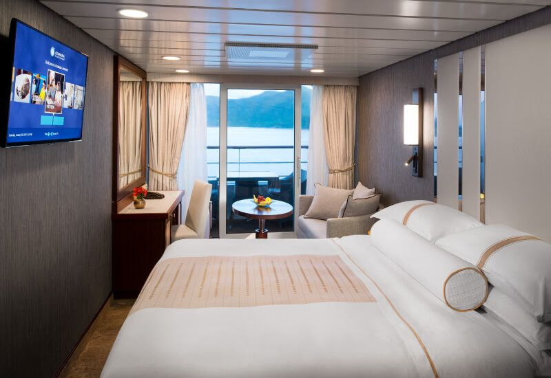 Cabine balcon du bateau de croisière Azamara Quest